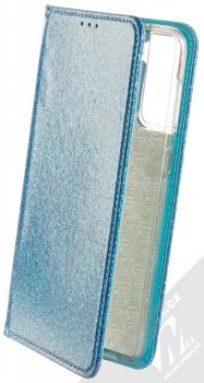 1Mcz Shining Book třpytivé flipové pouzdro pro Samsung Galaxy S21 Plus modrá (blue)