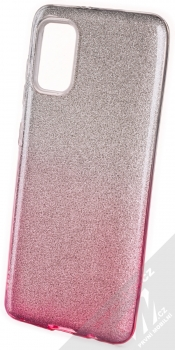 1Mcz Shining Duo TPU třpytivý ochranný kryt pro Samsung Galaxy A41 stříbrná růžová (silver pink)