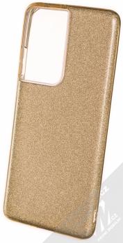 1Mcz Shining TPU třpytivý ochranný kryt pro Samsung Galaxy S21 Ultra zlatá (gold)