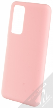 1Mcz Solid TPU ochranný kryt pro Huawei P Smart (2021) světle růžová (light pink)