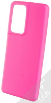 1Mcz Solid TPU ochranný kryt pro Samsung Galaxy S21 Ultra sytě růžová (hot pink)