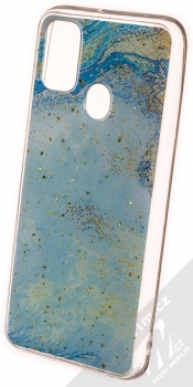 1Mcz Trendy Akvamarín TPU ochranný kryt pro Samsung Galaxy M21 světle modrá (light blue)