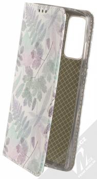 1Mcz Trendy Book Měňavé listí 2 flipové pouzdro pro Samsung Galaxy S20 FE, Galaxy S20 FE 5G bílá (white)