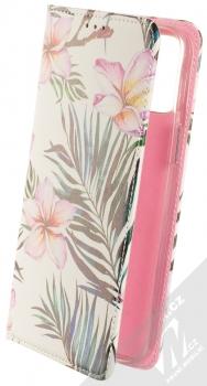 1Mcz Trendy Book Oleandr a kapradí 1 flipové pouzdro pro Apple iPhone 12 Pro Max bílá (white)