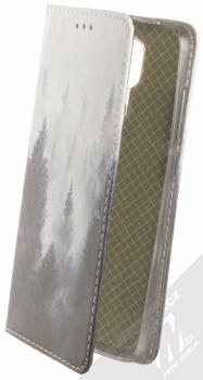 1Mcz Trendy Book Temný les v mlze 1 flipové pouzdro pro Xiaomi Redmi Note 9 šedá (grey)