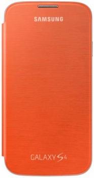 Samsung EF-FI950BO originální otvírací pouzdro pro Samsung i9500 Galaxy S IV, i9505 Galaxy S4, i9506 Galaxy S4 LTE-A oranžová (orange)