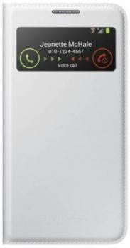 Samsung EF-MI950BW originální flipové pouzdro S-View pro Samsung Galaxy S4, Galaxy S4 LTE-A bílá (white)