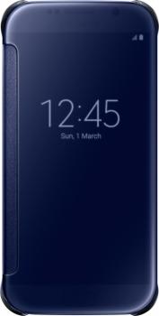 Samsung EF-ZG920BB Clear View Cover originální flipové pouzdro pro Samsung Galaxy S6 černá (black)