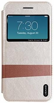 USAMS Lange flipové pouzdro pro Apple iPhone 6 zlatá (gold)