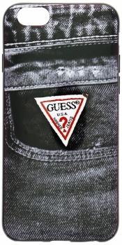 Guess Jeans TPU Case silikonový ochranný kryt pro Apple iPhone 6 (GUMHCP6DEBK2)
