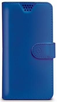 Celly Wally Unica XXL univerzální flipové pouzdro pro mobilní telefon, mobil, smartphone modrá (blue)