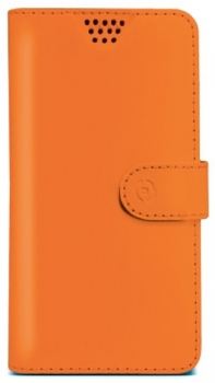 Celly Wally Unica M univerzální flipové pouzdro pro mobilní telefon, mobil, smartphone oranžová (orange)