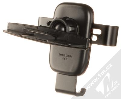 Baseus Metal Age Gravity Car Holder SUYL-J01 univerzální držák do slotu CD v automobilu černá (black) zezadu