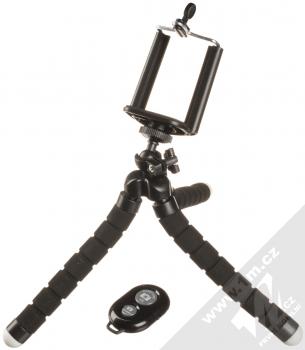 Blue Star Elastic Tripod univerzální stativ s flexibilními rameny a Bluetooth dálkový ovladač černá (black)
