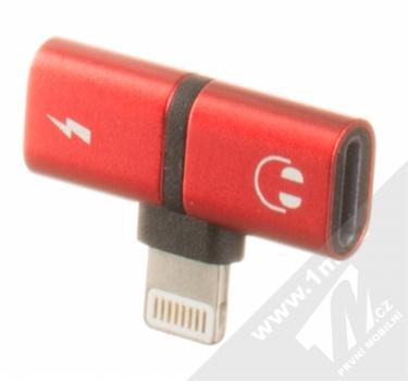 Blue Star Lightning Splitter miniaturní rozdvojovací adaptér s Apple Lightning konektorem červená (red)