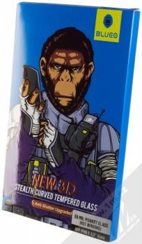 Blueo 5D Mr. Monkey Stealth Curved Tempered Glass ochranné tvrzené sklo na kompletní displej pro Apple iPhone XS Max černá (black) krabička