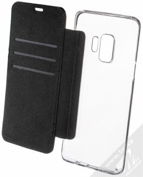 BMW M Carbon Vertical flipové pouzdro pro Samsung Galaxy S9 (BMBKTRS9CAPRBK) černá (black) otevřené