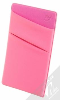 CellularLine Pocket samonalepovací kapsička na kartu a peníze růžová (pink)