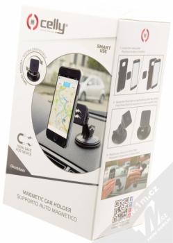 Celly Ghost Dash magnetický univerzální držák do auta s přísavkou černá (black) krabička