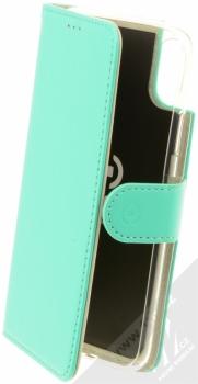 Celly Wally flipové pouzdro pro Apple iPhone X, iPhone XS tyrkysová (turquoise)