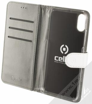 Celly Wally flipové pouzdro pro Apple iPhone XR bílá (white) otevřené