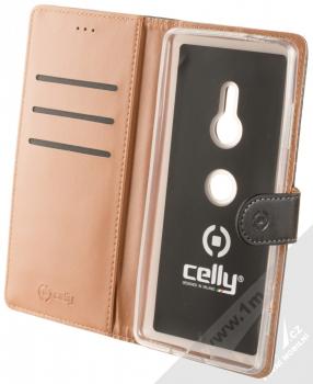 Celly Wally flipové pouzdro pro Sony Xperia XZ3 černá (black) otevřené
