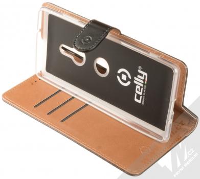 Celly Wally flipové pouzdro pro Sony Xperia XZ3 černá (black) stojánek