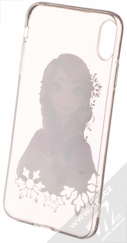 Disney Anna 001 TPU ochranný silikonový kryt s motivem pro Apple iPhone XS Max průhledná (transparent) zepředu