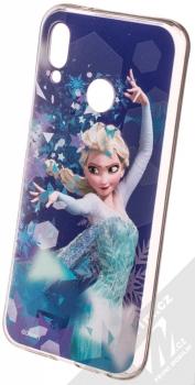 Disney Elsa 011 TPU ochranný silikonový kryt s motivem pro Huawei P20 Lite modrá (blue)