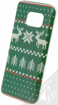 Flavr Ugly Xmas Sweater ochranný kryt s motivem pleteného svetru pro Samsung Galaxy S7 zelená (green)