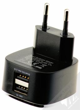 Fontastic Smart nabíječka 2x USB - 3,1A pro mobilní telefon, mobil, smartphone, tablet černá (black) konektory