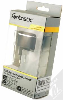 Fontastic Smart nabíječka 2x USB - 3,1A pro mobilní telefon, mobil, smartphone, tablet černá (black) krabička