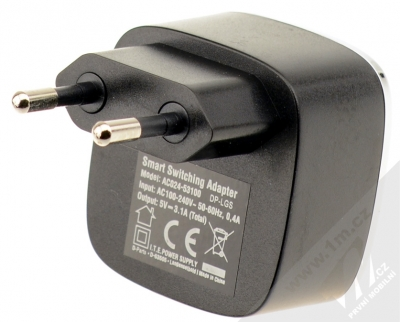 Fontastic Smart nabíječka 2x USB - 3,1A pro mobilní telefon, mobil, smartphone, tablet černá (black) zezadu
