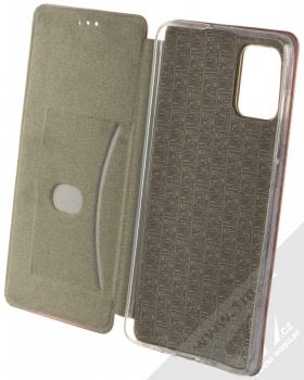 Forcell Elegance Book flipové pouzdro pro Samsung Galaxy A71 tmavě červená (dark red) otevřené