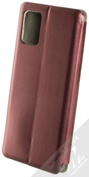 Forcell Elegance Book flipové pouzdro pro Samsung Galaxy A71 tmavě červená (dark red) zezadu