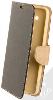 Forcell Fancy Book flipové pouzdro pro Huawei Mate 20 Lite černá zlatá (black gold)