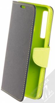 Forcell Fancy Book flipové pouzdro pro Samsung Galaxy A9 (2018) modrá limetkově zelená (blue lime)