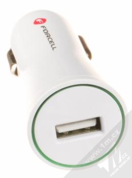 Forcell Impulse USB Car Charger nabíječka do auta s USB výstupem a Forcell TYP-C 3.0 USB kabel s USB Type-C bílá (white) nabíječka konektor