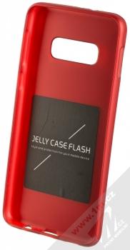 Forcell Jelly Matt Case TPU ochranný silikonový kryt pro Samsung Galaxy S10e červená (red) zepředu