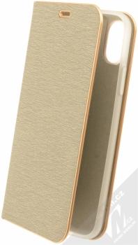 Forcell Luna flipové pouzdro pro Apple iPhone X stříbrná (silver)