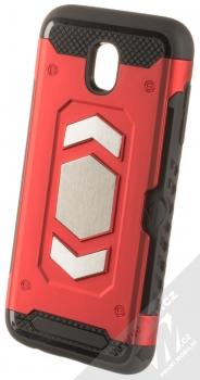 Forcell Magnet odolný ochranný kryt s kapsičkou a kovovým plíškem pro Samsung Galaxy J5 (2017) červená (red)