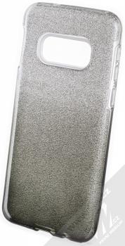 Forcell Shining Duo třpytivý ochranný kryt pro Samsung Galaxy S10e stříbrná černá (silver black)