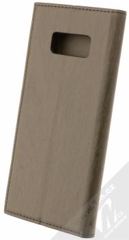 Forcell Wood flipové pouzdro s motivem dřeva pro Samsung Galaxy S8 černý eben (ebony black) zezadu