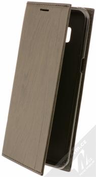 Forcell Wood flipové pouzdro s motivem dřeva pro Samsung Galaxy S8 černý eben (ebony black)