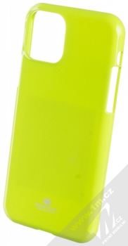 Goospery Jelly Case TPU ochranný silikonový kryt pro Apple iPhone 11 Pro limetkově zelená (lime green)