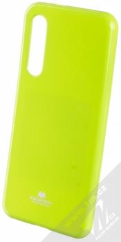 Goospery Jelly Case TPU ochranný silikonový kryt pro Xiaomi Mi 9 SE limetkově zelená (lime green)