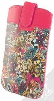 GreenGo Slim Up Motive Expression 4XL pouzdro pro mobilní telefon, mobil, smartphone sytě růžová různobarevná (hot pink varic