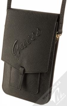 Guess Signature Saffiano Wallet Universal univerzální pouzdro kabelka s kapsičkami (GUWBRSAVSBK) černá (black)