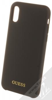 Guess Silicone Logo ochranný kryt pro Apple iPhone X, iPhone XS (GUHCPXLSGLBK) černá (black)