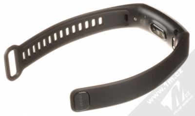 Huawei Band 2 Pro chytrý fitness náramek s GPS a senzorem srdečního tepu černá (black) rozepnuté zezadu